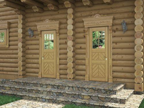 Входная дверь из массива сосны 6