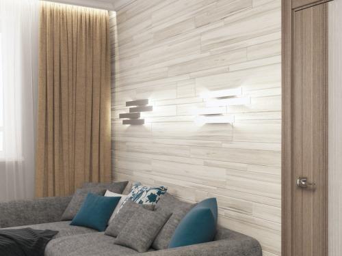 Стеновая панель из дубовых ламелей 13
