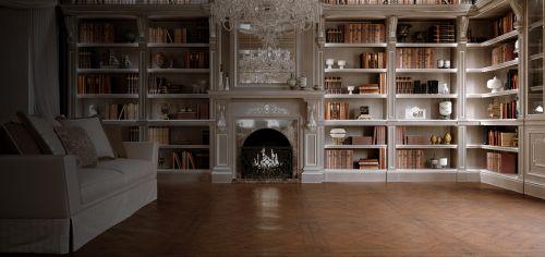 Библиотека в классическом стиле