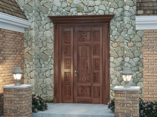 Входная дверь из массива дуба 6