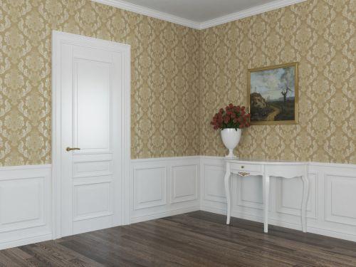 Стеновая панель МДФ с накладкой и декоративным багетом 6