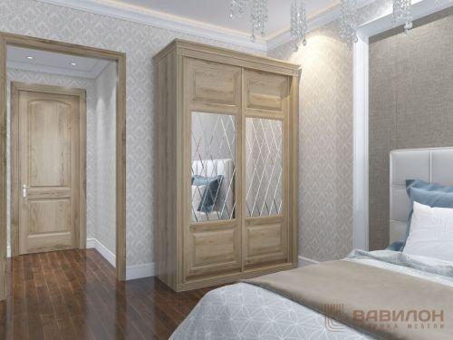 Корпусный шкаф-купе в спальне
