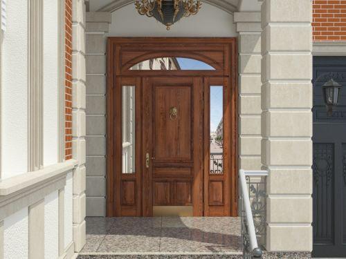 Входная дверь из массива дуба 4