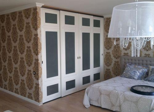 Встроенный шкаф-купе из МДФ в спальню