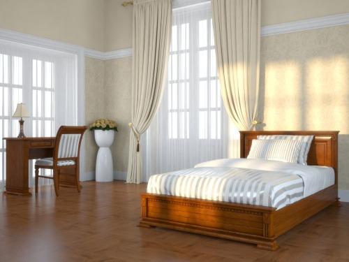Кровать из массива и шпона дуба 2