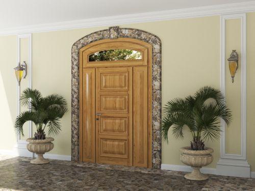 Входная дверь из массива сосны 3