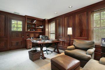 Мебель для кабинета из массива дерева в современном стиле