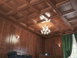 Кессонный потолок из массива 2