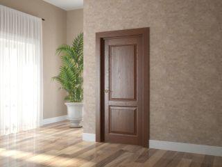 Дверь из массива и шпона дуба 1