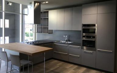 Матовая кухня в стиле модерн