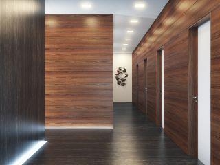 Стеновая панель шпон мербау 10