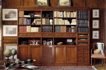 Шкаф для книг в кабинете 2