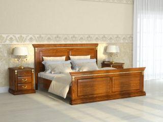 Кровать из массива и шпона дуба 1