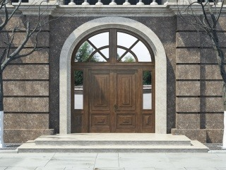 Входная дверь из массива дуба 1