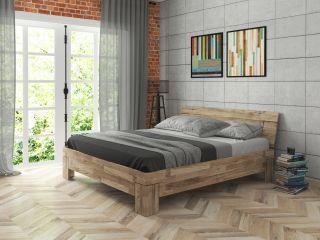 Кровать из дубового щита в стиле LOFT